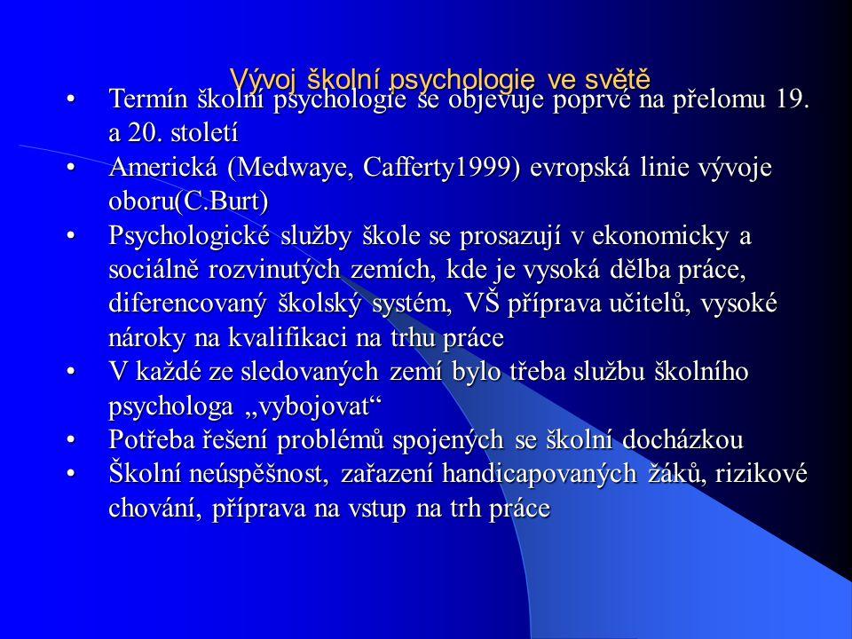 Vývoj školní psychologie ve světě