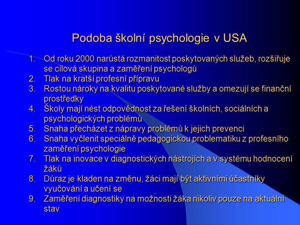 Podoba školní psychologie v USA