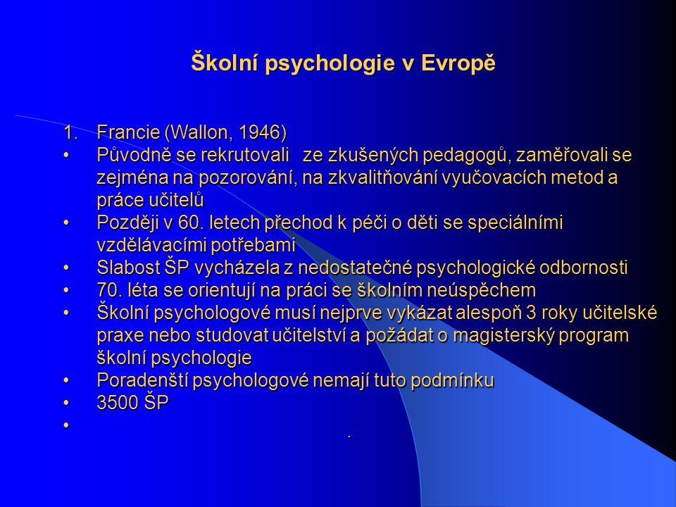 Školní psychologie v Evropě