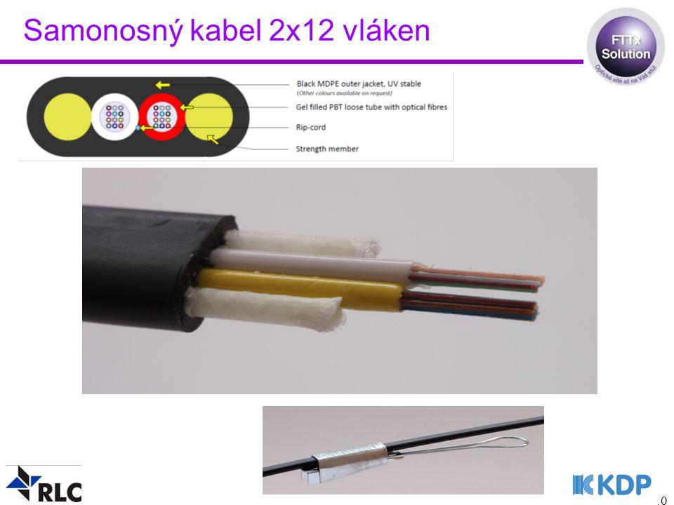Samonosný kabel 2x12 vláken