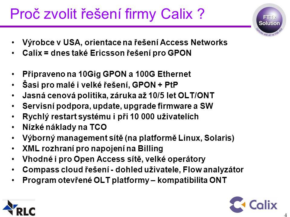 Proč zvolit řešení firmy Calix