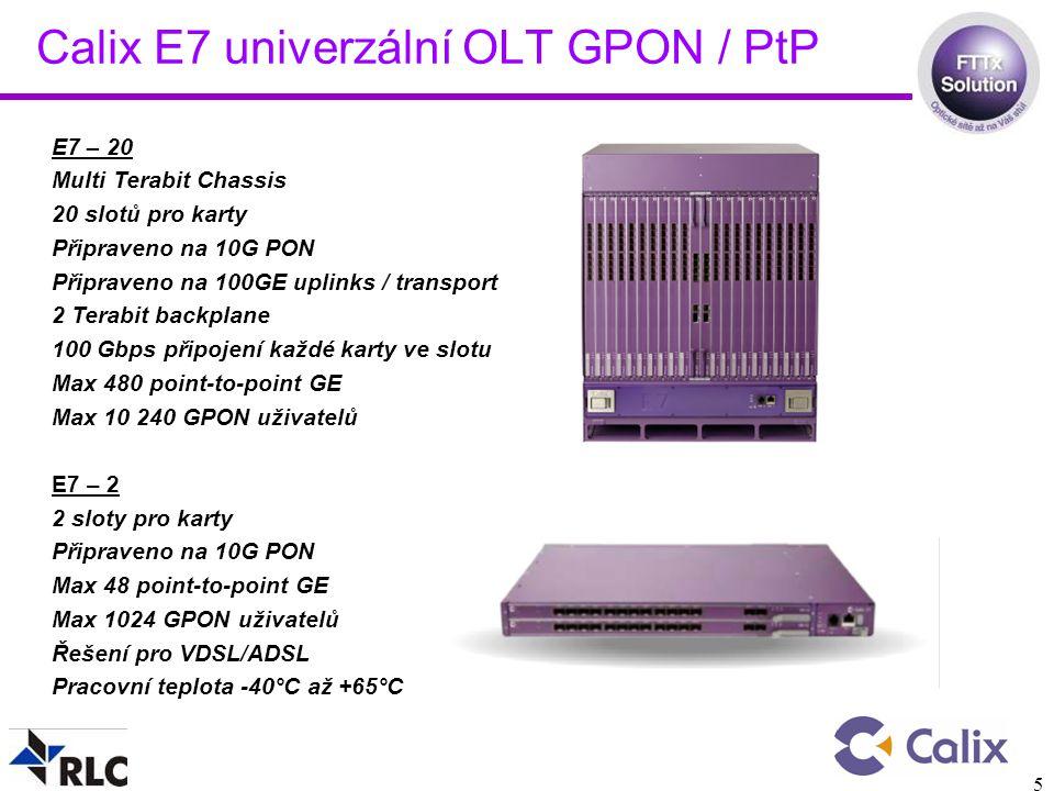 Calix E7 univerzální OLT GPON / PtP