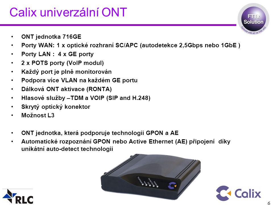 Calix univerzální ONT ONT jednotka 716GE