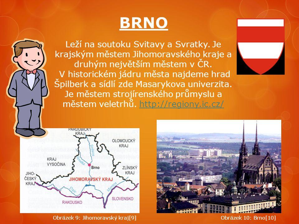 BRNO Leží na soutoku Svitavy a Svratky. Je krajským městem Jihomoravského kraje a druhým největším městem v ČR.