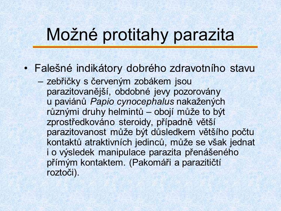 Možné protitahy parazita