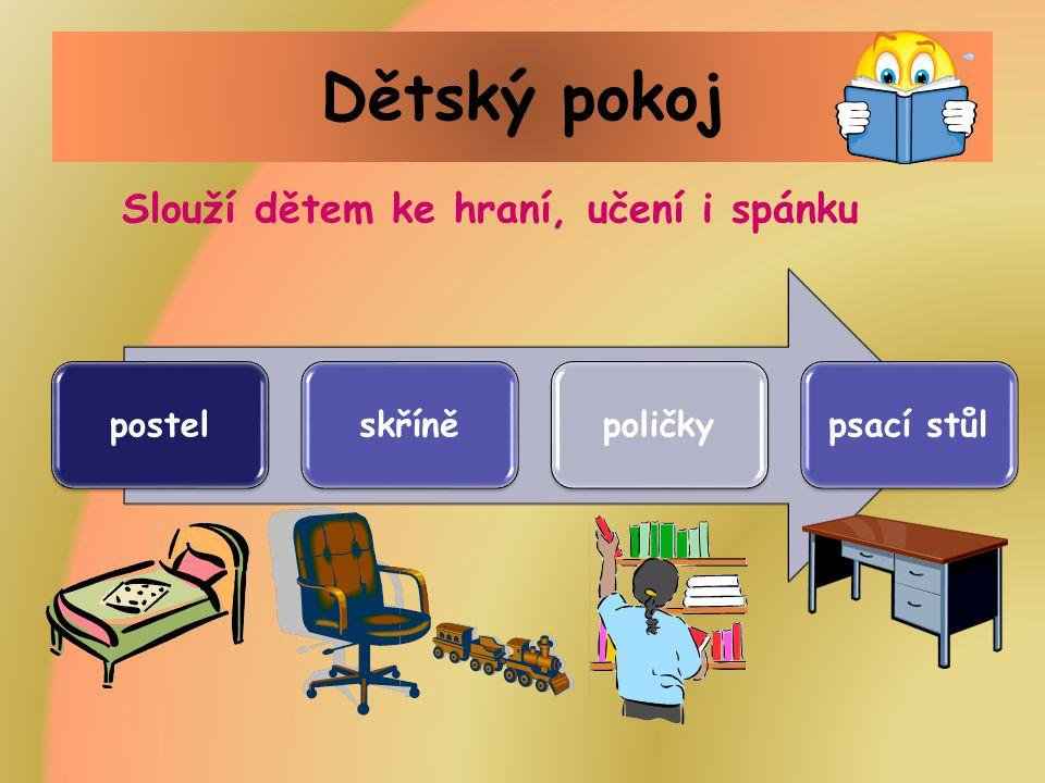 Dětský pokoj Slouží dětem ke hraní, učení i spánku postel skříně