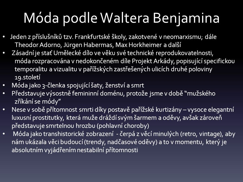Móda podle Waltera Benjamina