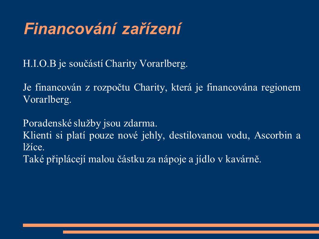 Financování zařízení H.I.O.B je součástí Charity Vorarlberg.