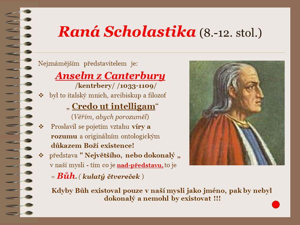 Raná Scholastika (8.-12. stol.)