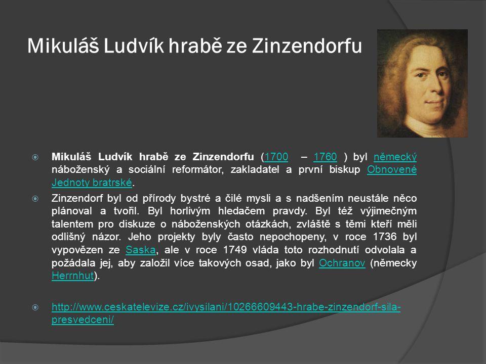 Mikuláš Ludvík hrabě ze Zinzendorfu