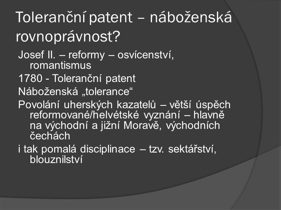 Toleranční patent – náboženská rovnoprávnost