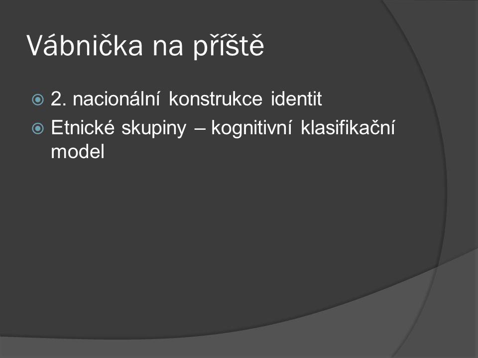 Vábnička na příště 2. nacionální konstrukce identit