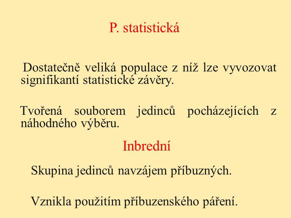 P. statistická Inbrední