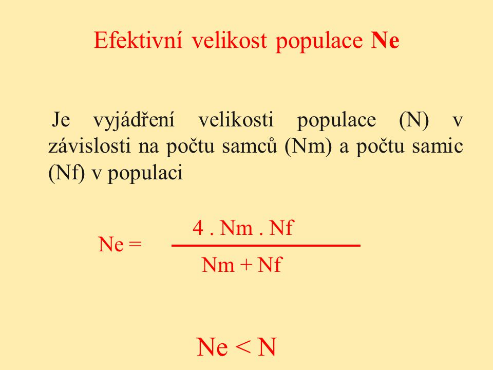 Efektivní velikost populace Ne
