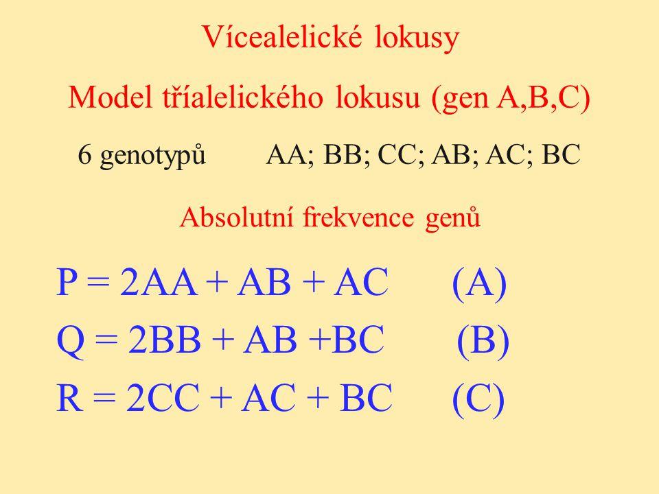 P = 2AA + AB + AC (A) Q = 2BB + AB +BC (B) R = 2CC + AC + BC (C)