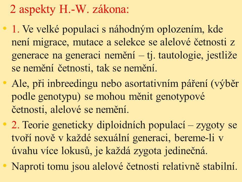 2 aspekty H.-W. zákona: