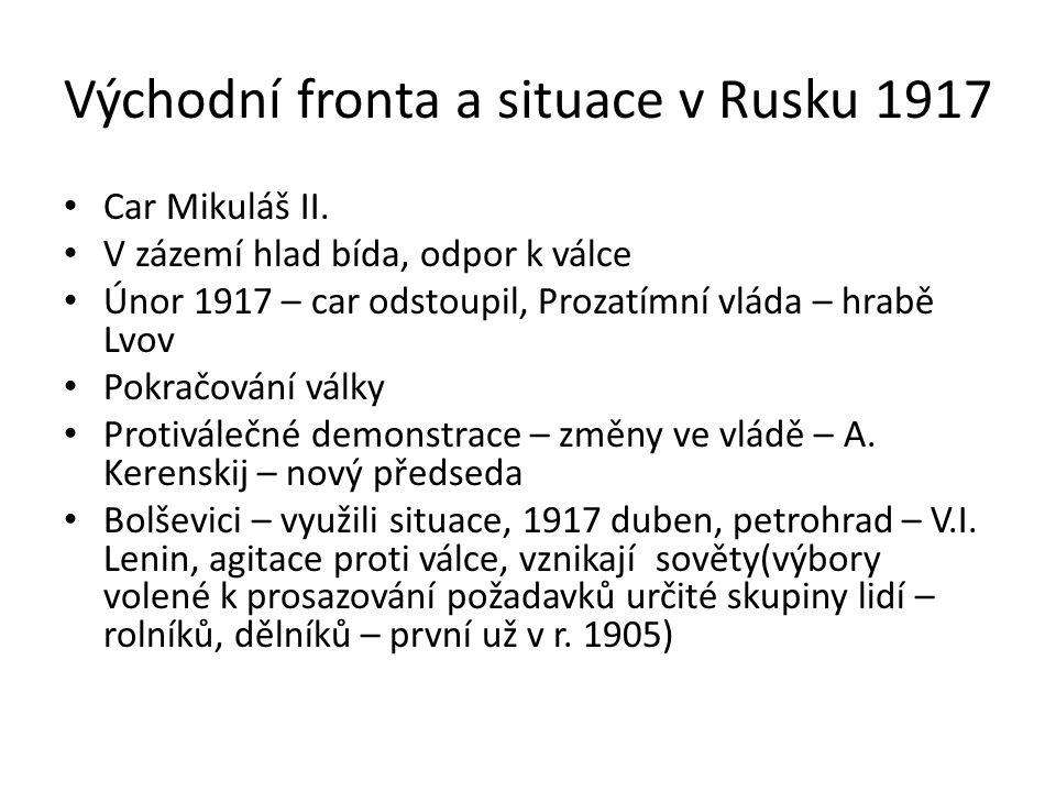 Východní fronta a situace v Rusku 1917