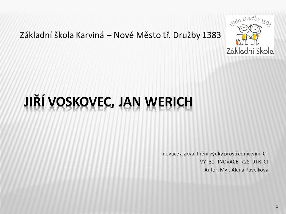 Jiří Voskovec, jan werich