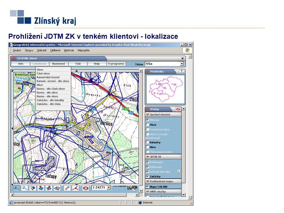 Prohlížení JDTM ZK v tenkém klientovi - lokalizace