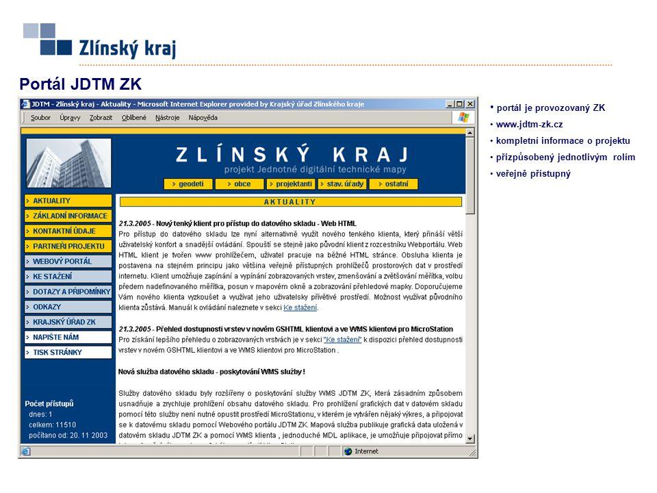 Portál JDTM ZK portál je provozovaný ZK www.jdtm-zk.cz