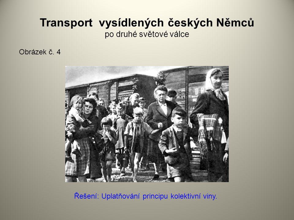 Transport vysídlených českých Němců po druhé světové válce