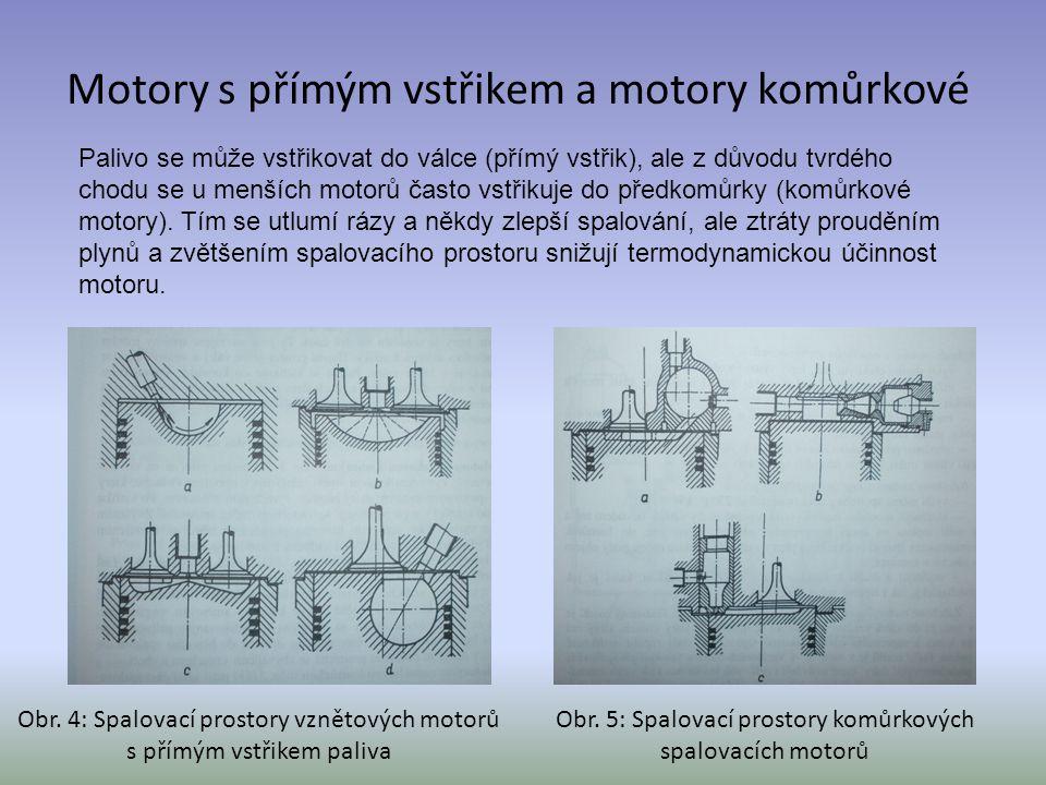 Motory s přímým vstřikem a motory komůrkové