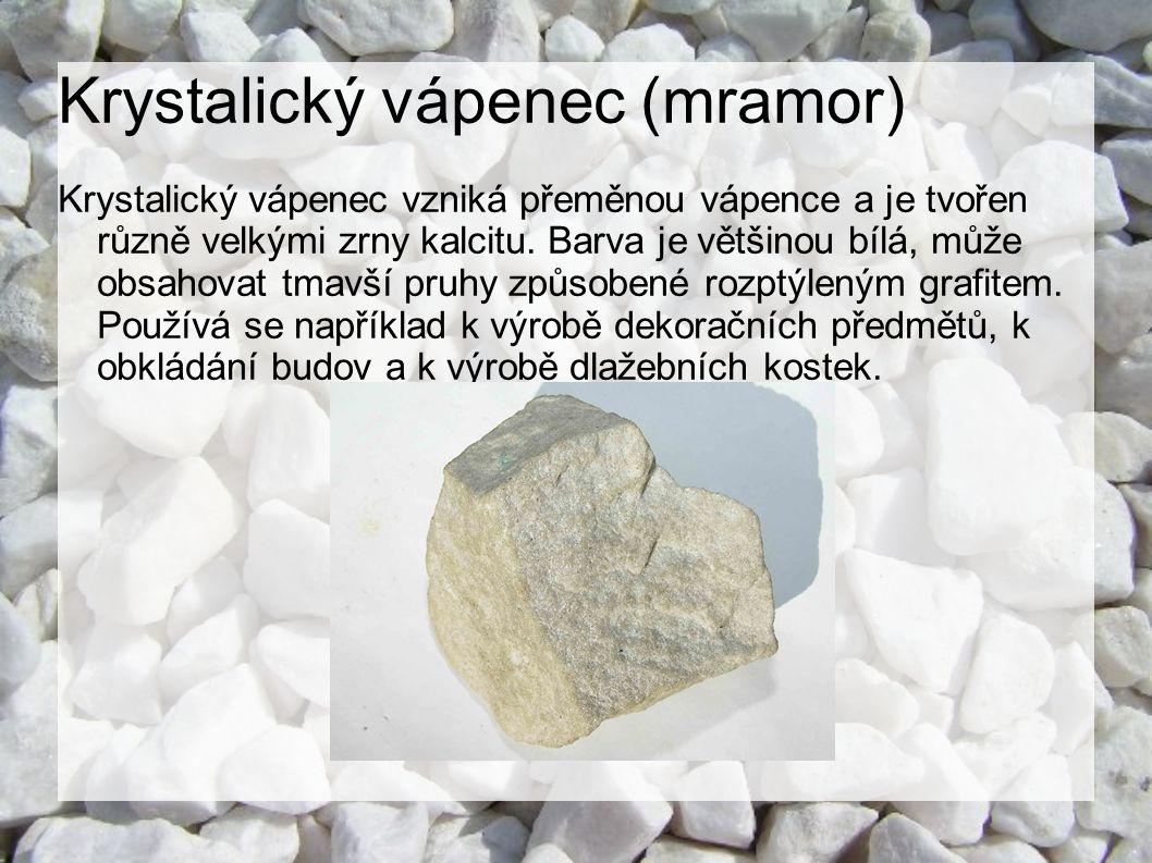 Krystalický vápenec (mramor)