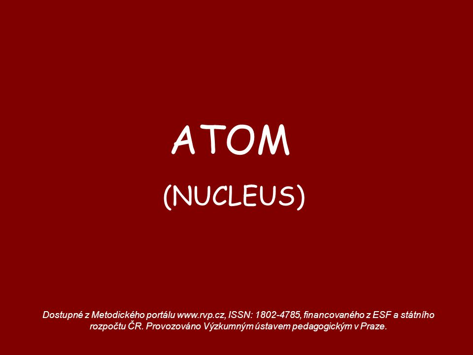 ATOM (NUCLEUS)