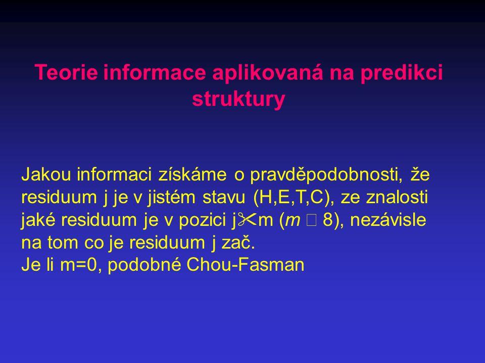 Teorie informace aplikovaná na predikci struktury