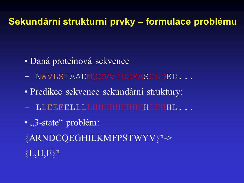 Sekundární strukturní prvky – formulace problému