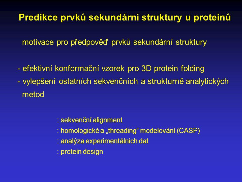 Predikce prvků sekundární struktury u proteinů