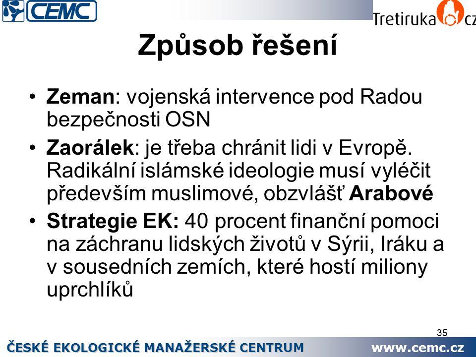 Způsob řešení Zeman: vojenská intervence pod Radou bezpečnosti OSN