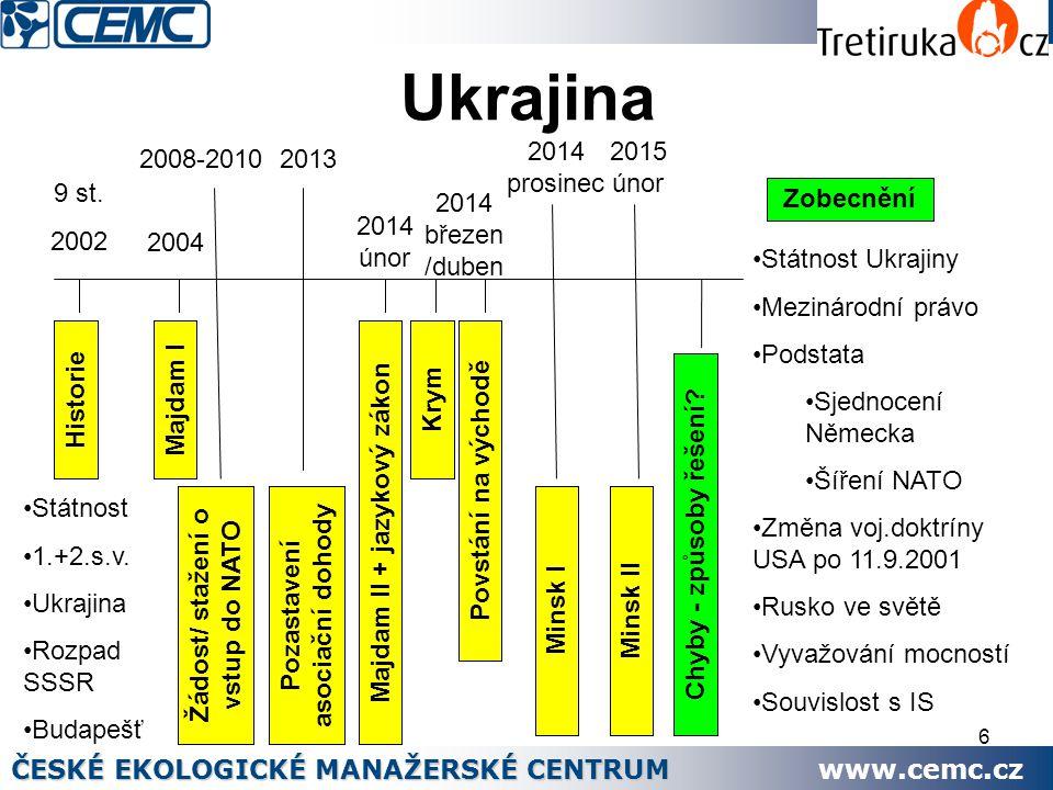 Ukrajina ČESKÉ EKOLOGICKÉ MANAŽERSKÉ CENTRUM www.cemc.cz 2014 prosinec
