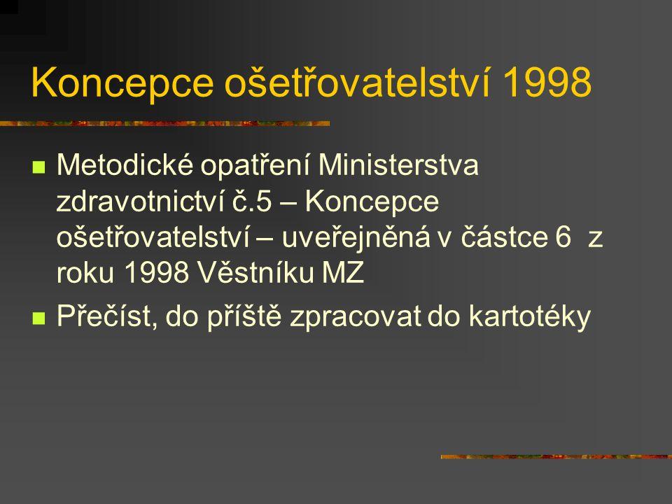 Koncepce ošetřovatelství 1998