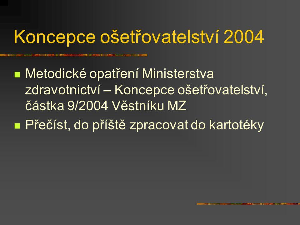 Koncepce ošetřovatelství 2004