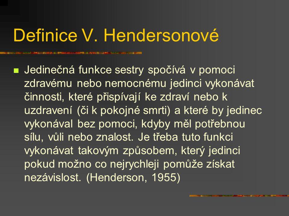 Definice V. Hendersonové