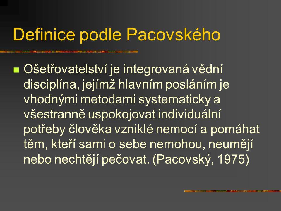 Definice podle Pacovského
