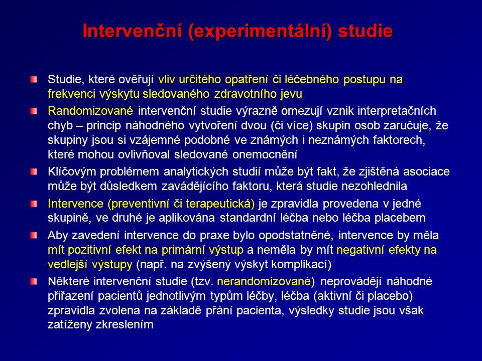 Intervenční (experimentální) studie