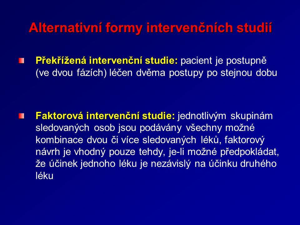 Alternativní formy intervenčních studií