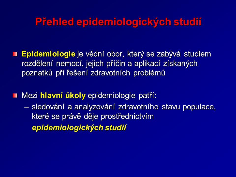Přehled epidemiologických studií
