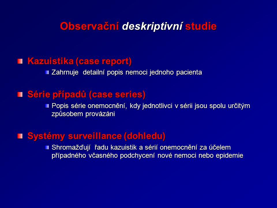 Observační deskriptivní studie