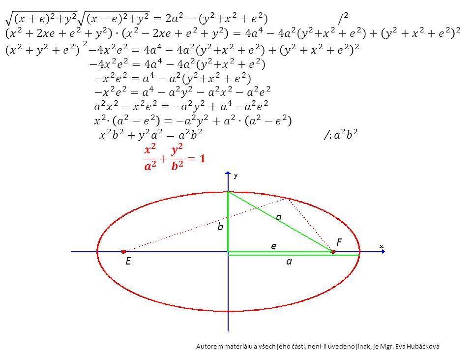 (𝑥+𝑒) 2 + 𝑦 2 (𝑥−𝑒) 2 + 𝑦 2 = 2𝑎 2 − (𝑦 2 + 𝑥 2 + 𝑒 2 ) / 2