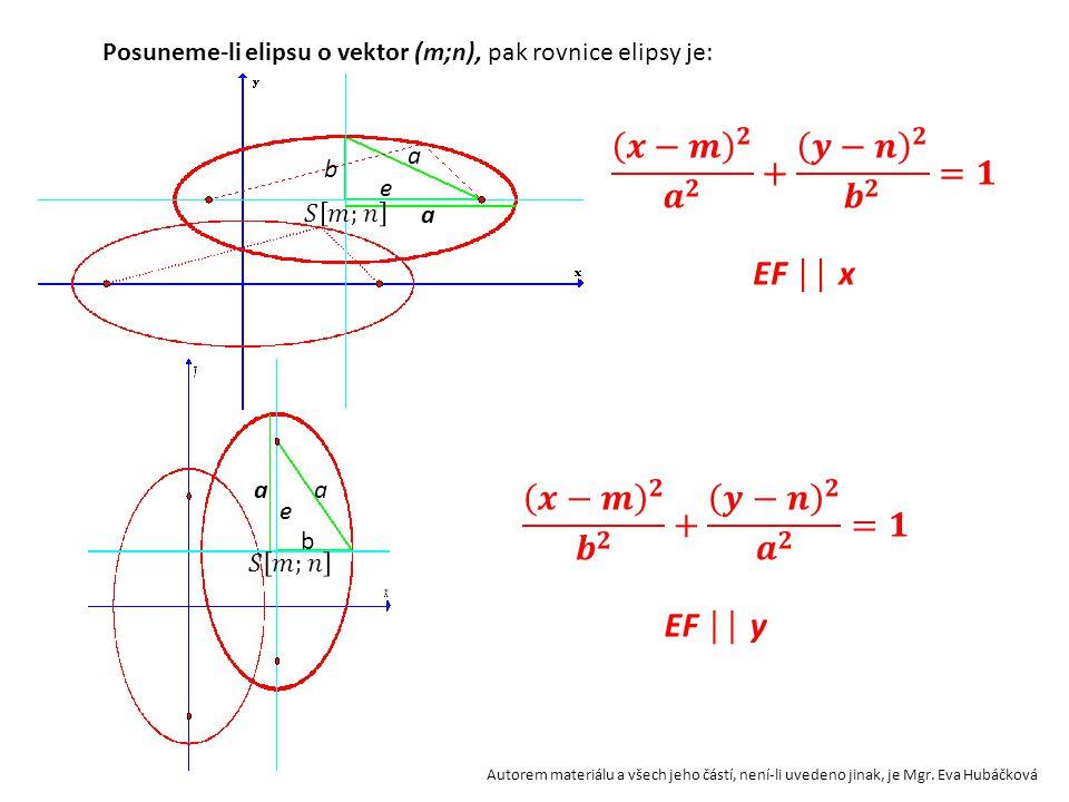 𝒙−𝒎 𝟐 𝒂 𝟐 + 𝒚−𝒏 𝟐 𝒃 𝟐 =𝟏 EF ││ x 𝒙−𝒎 𝟐 𝒃 𝟐 + 𝒚−𝒏 𝟐 𝒂 𝟐 =𝟏 EF ││ y