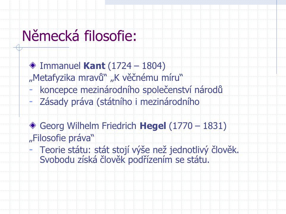 Německá filosofie: Immanuel Kant (1724 – 1804)