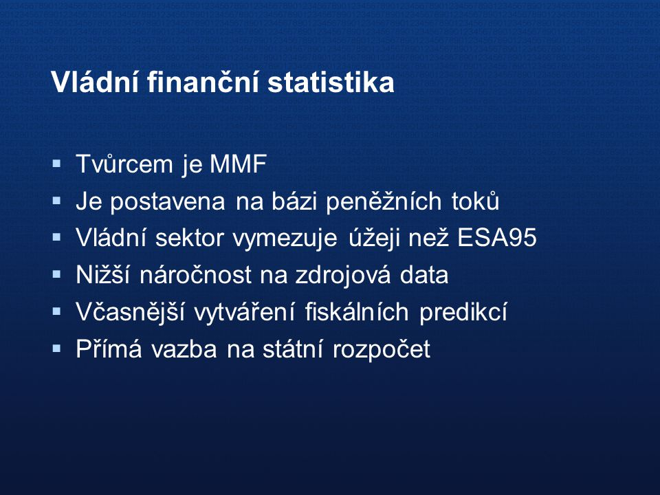 Vládní finanční statistika