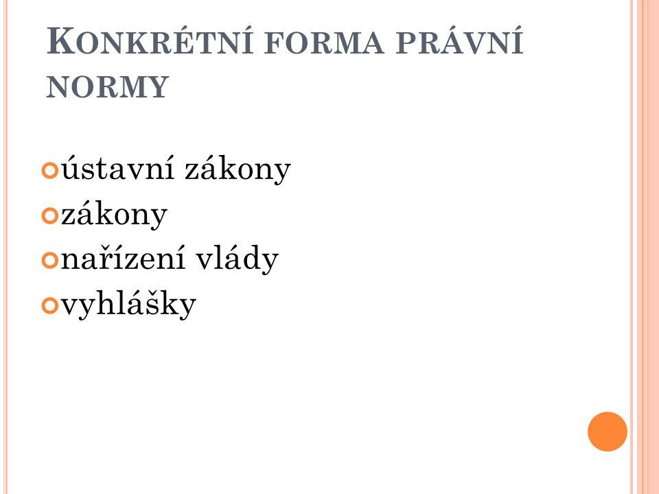 Konkrétní forma právní normy