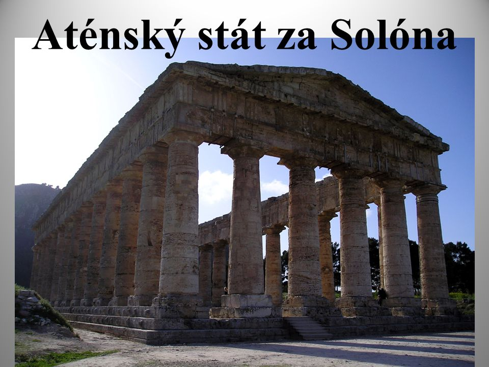 Aténský stát za Solóna 1