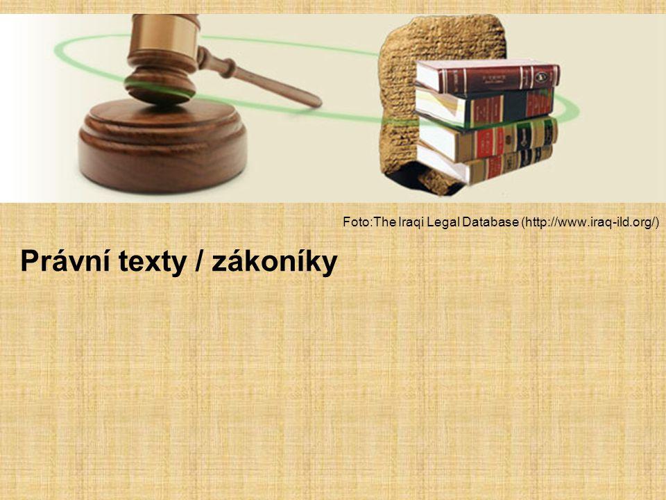Právní texty / zákoníky