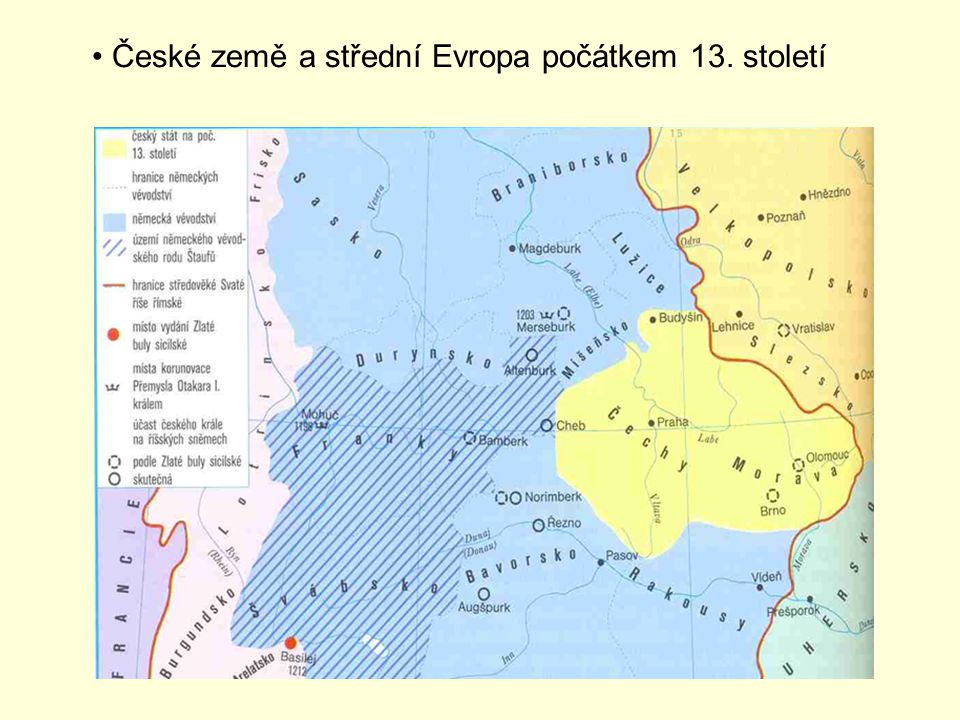České země a střední Evropa počátkem 13. století