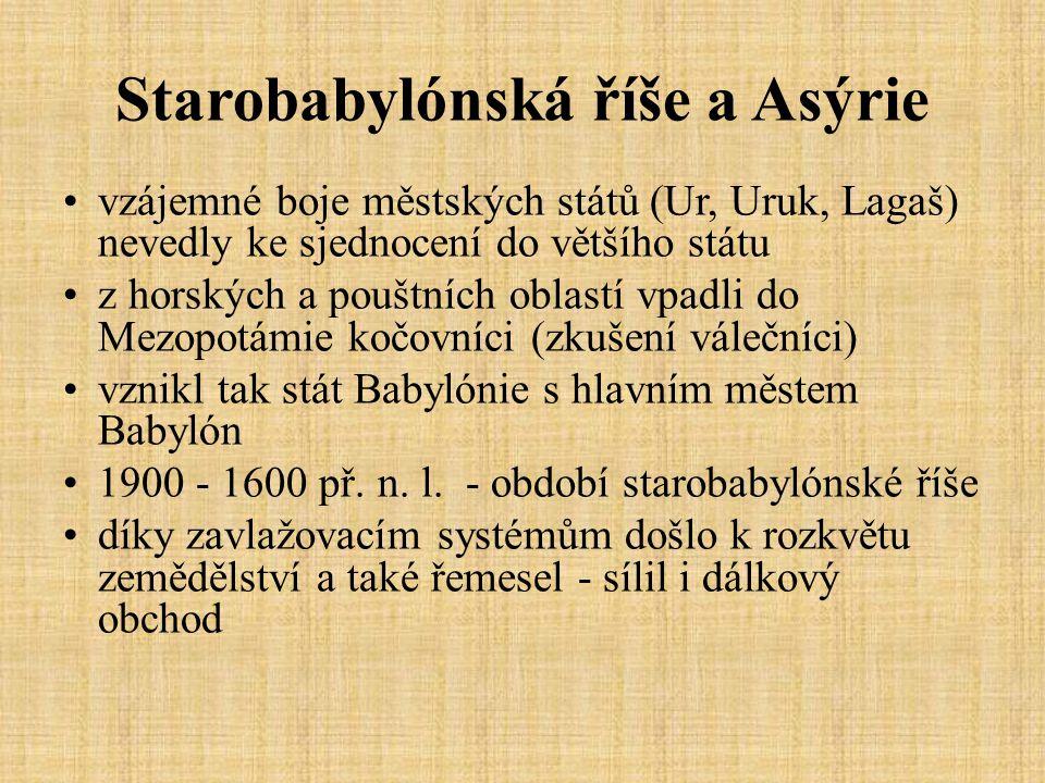 Starobabylónská říše a Asýrie